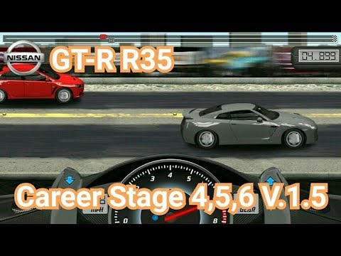 Drag Racing:tune Car GT-R R35 For 3 Career Stage(Level 4,5,6) V.1.5