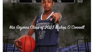 Nia Grymes Class of 2023 Bishop O'Connell HS