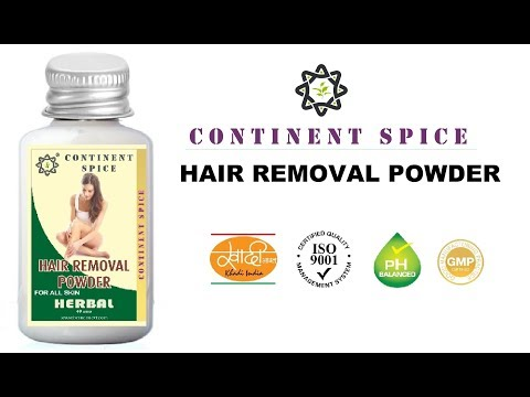 Continent Spice Hair Removal Powder Waxing Herbal Just Mix Water And Apply Youtube