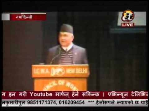 Khulyo Delhi - PM Oli attending Indian business sector