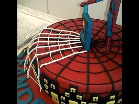 Spidermann Torte Zum Kindergeburtstag Youtube