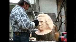 Wood Carving, Work In Progress By Moscu Dumitru