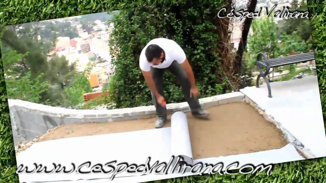 Como poner cesped artificial en casa 6 13 colocar la for Baldosas para el jardin