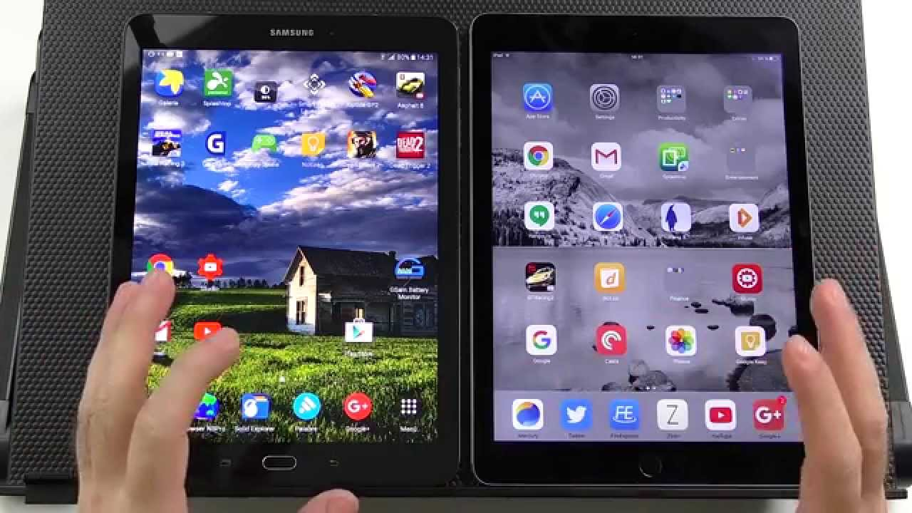 ipad air 2 vs samsung Apple is known for manufacturing some of the most popular tablets on the market, but samsung's galaxy tab s2 97 is proving to be a tough competitor to the cupertino giant's ipad air 2, particularly as it comes with a cheaper price tag.