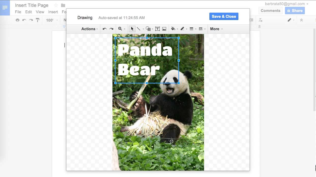Creating An Image Title Page With Google Docs YouTube - Google docs cover page