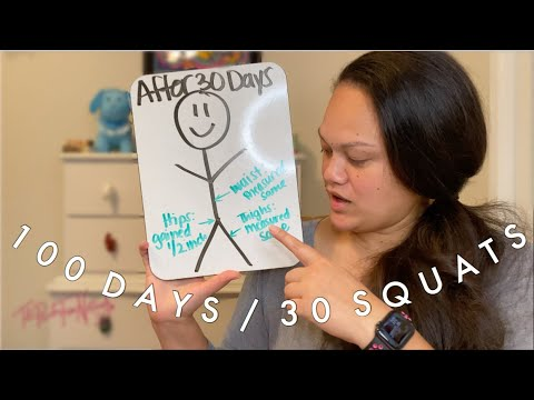 100 Squats 30 Days | Does It Work Without Dieting?