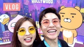 Video KCON LA DAY 2 VLOG: K-pop Dance Off, Twice, Momoland, Wanna One | Ellen and Brian download MP3, 3GP, MP4, WEBM, AVI, FLV Agustus 2018