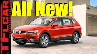2018 VW Tiguan gets bigger with 3 Row 7 Passenger Seating and New Design