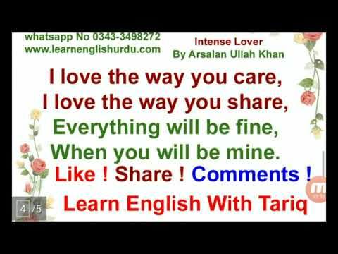 Intense Lover By Arsalan Ullah Khan ~ The Most Beautiful Lines For Loved One