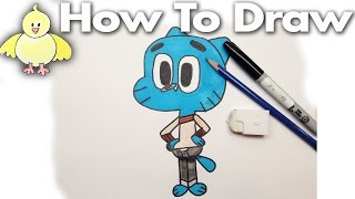 Cartoons: How to Draw Gumball from The Amazing World of Gumball