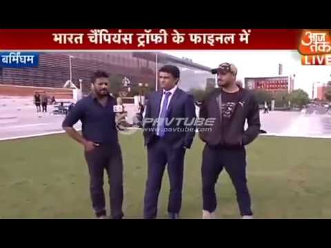 Hilarious Ganguly and Harbhajan teasing Pak before Champions Trophy Final 2017 -