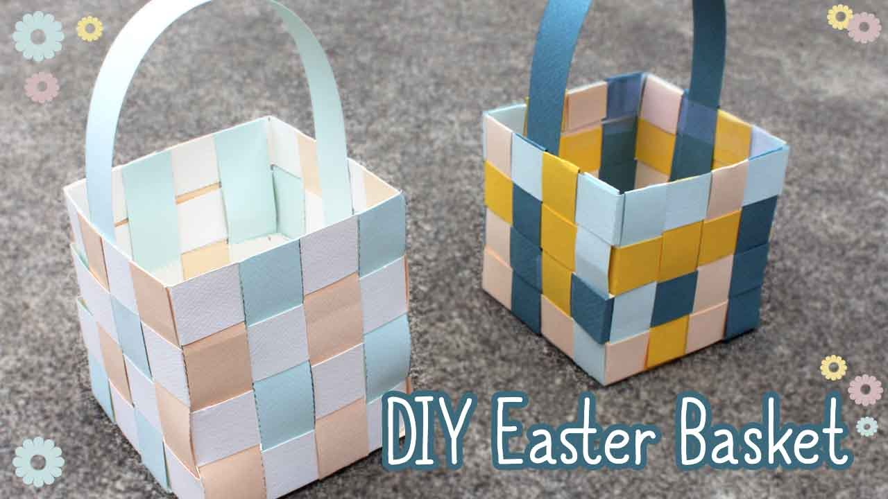 How To Make A Woven Easter Basket : How to make an easter basket