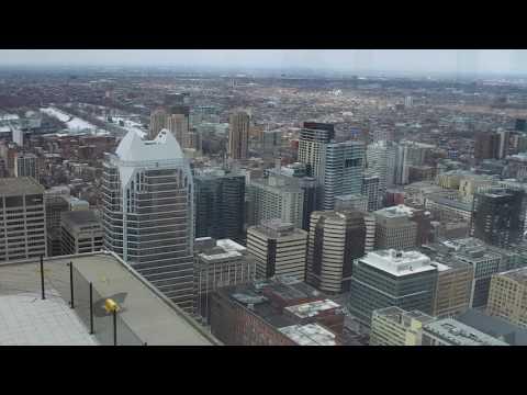 Vue du Sommet de la Place Ville Marie à Montréal