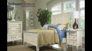 Magnussen Furniture Ashby 4-piece Panel Bedroom Set In Patina White Finish