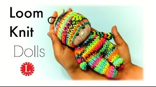 Loom Knitting Dolls Pattern on Small Round Loom Knit Toys Projects