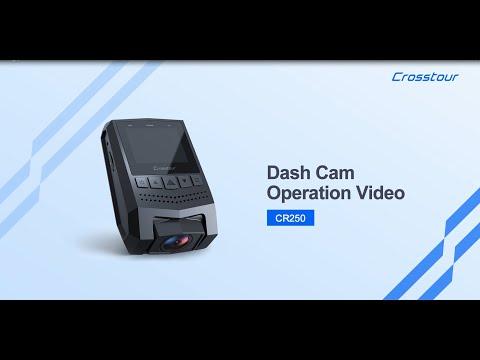 Crosstour Mini Dash Cam CR250 Operation Video