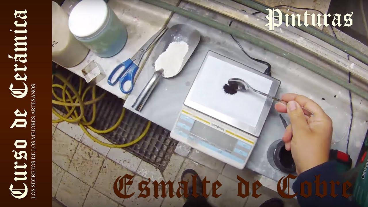 Curso De Cer Mica Preparar Esmalte De Cobre