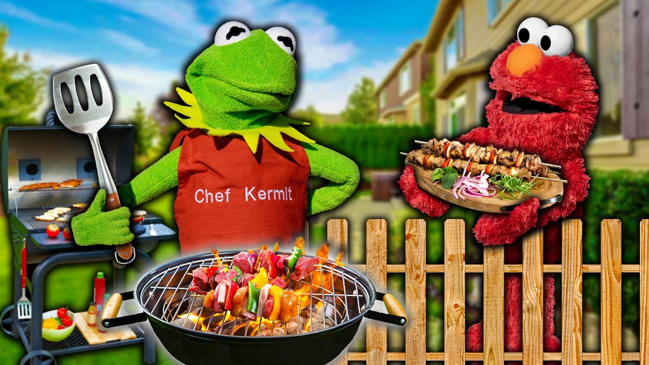 Kermit the Frog's Summer BBQ Cook Off Competition! (Lots of Food)