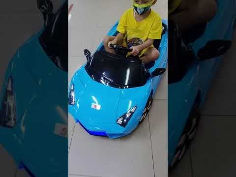 Naik Odong Odong Mobil Aki Lamborghini Biru Dan Jeep Merah #shorts