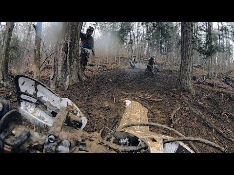 Racing a stock YZ250F in a Harescramble - NYOA Round 1