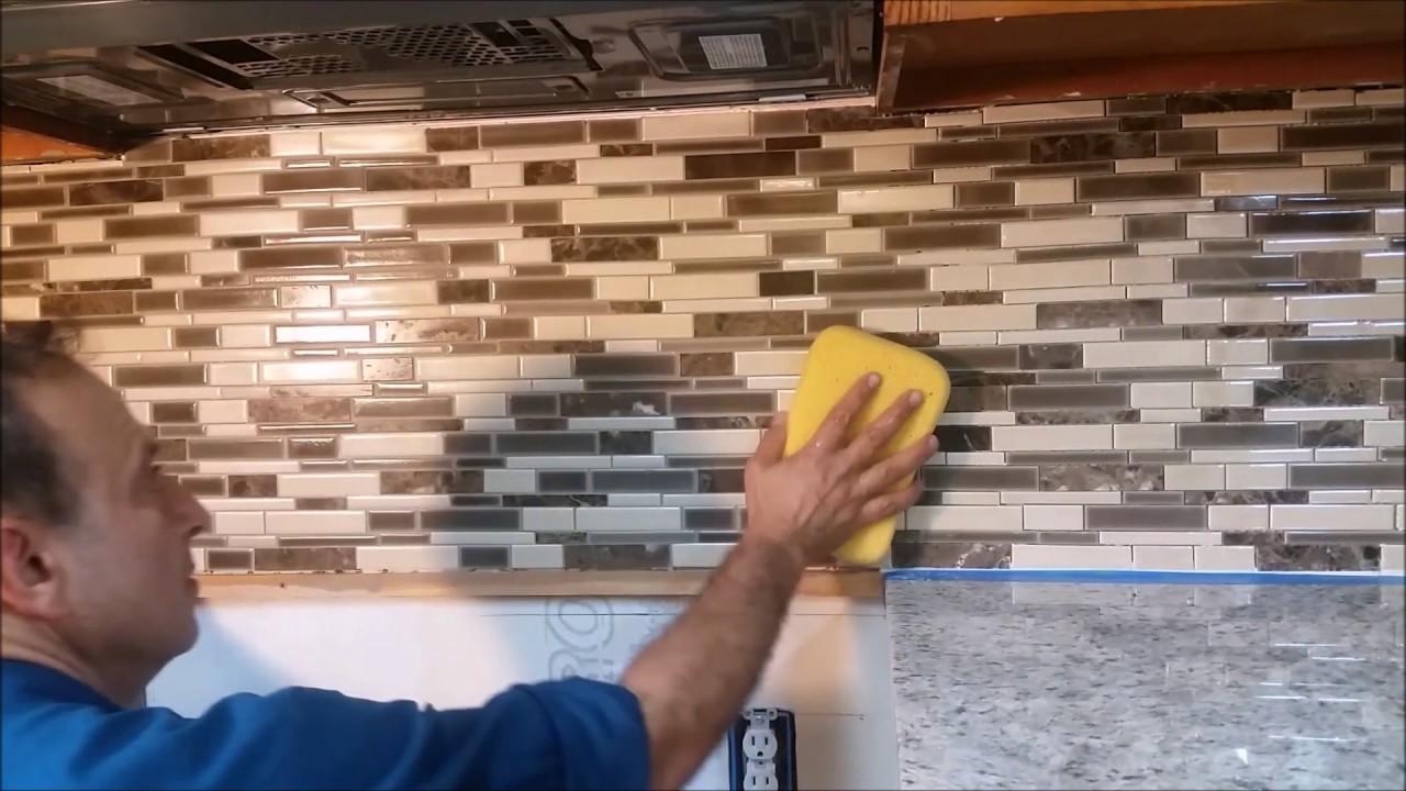 how to grout a kitchen mosaic backsplash part 2 step by step how to grout a kitchen mosaic backsplash part 2 step by step d i y