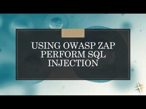Using OWASP ZAP To Perform SQL Injection