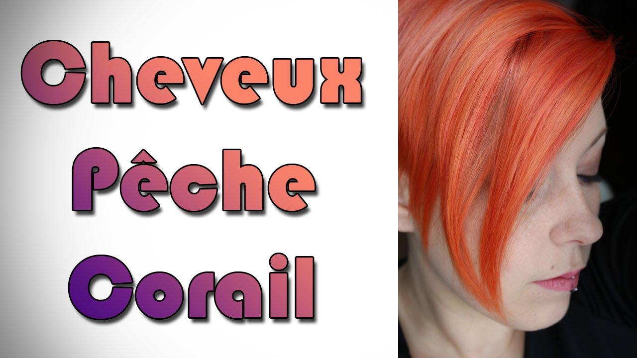 coloration cheveux corail pche peach coral hair color - Dcoloration Cheveux Colors