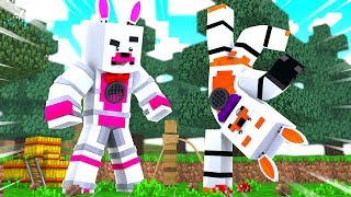Funtime Foxy and Lolbit play simon says (Minecraft Fnaf Roleplay Adventure)