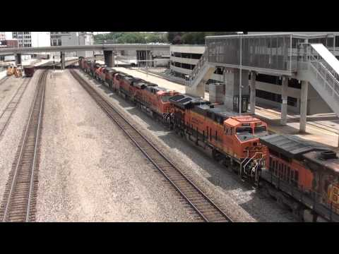 BNSF #7531 leads 11 Unit Light Power Move with a GP50. Kansas City, MO 6/3/17