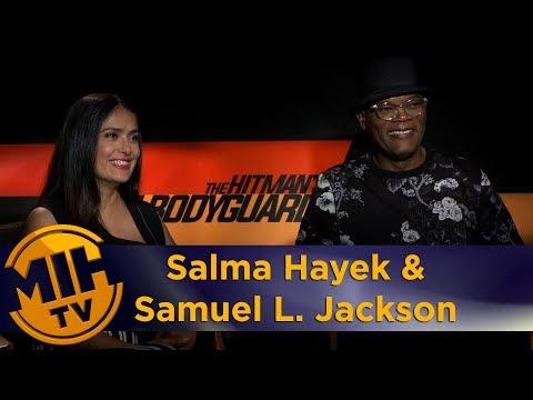 Salma Hayek & Samuel L. Jackson The Hitman's Bodyguard Interview