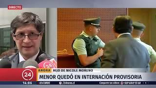 Hijo de Nicole Moreno quedó en internación provisoria