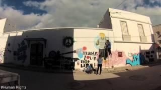 Libyan artist make graffiti in Tunisia !!