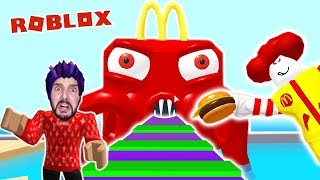 Roblox: VOR HAPPY MEAL MONSTER ENTKOMMEN! KAAN GEFANGEN IM MCDONALDS! Escape McDonalds Obby Deutsch
