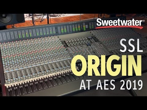 Sweetwater At AES 2019 – SSL Origin Console
