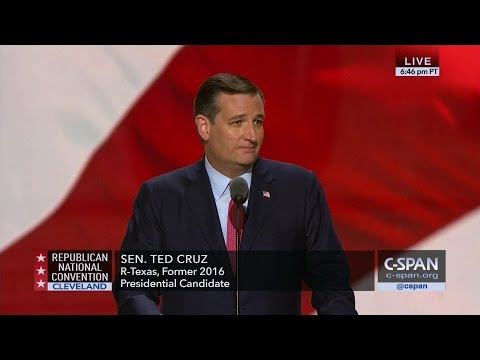 Ted Cruz FULL REMARKS at GOP Convention (C-SPAN)