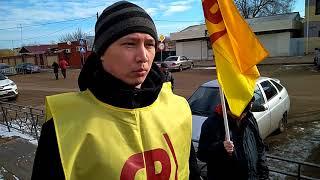 Жители Володарского района выступают на митинге часть1