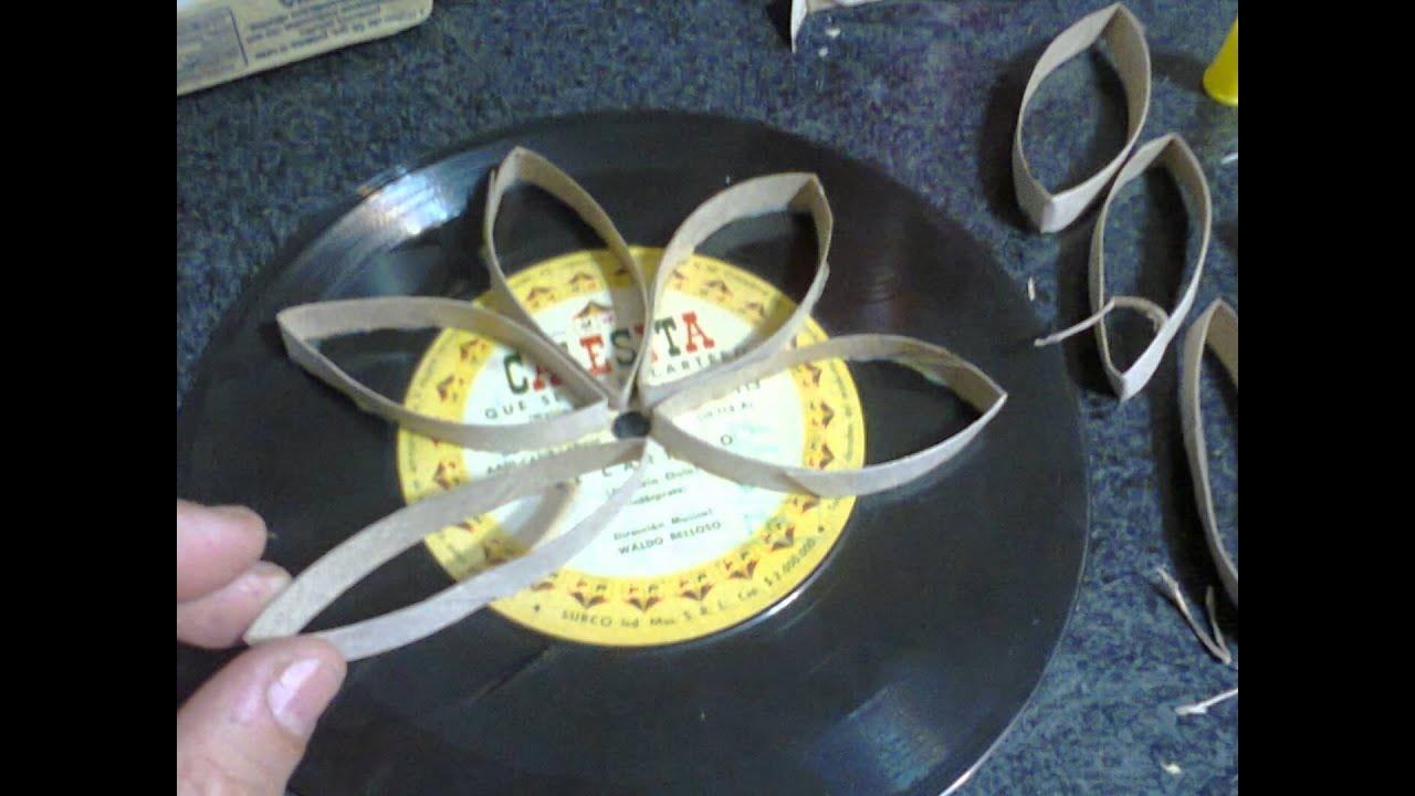 como hacer mandalas con discos de vinilo