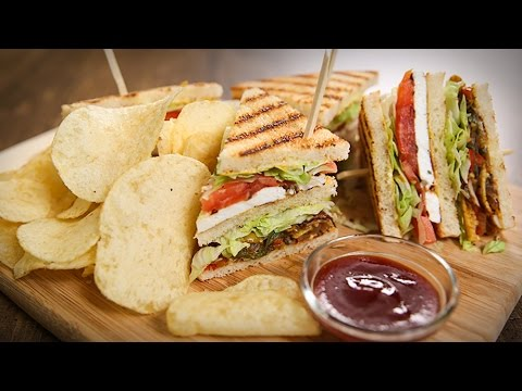 Veg Club Sandwich Recipe | Quick Breakfast / Tiffin / Snack Recipe | The Bombay Chef - Varun Inamdar