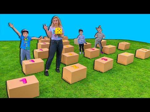 Выбери ПРАВИЛЬНЫЙ ПУТЬ, чтобы получить 10 000 рублей ! Света и Богдан в гигантской игре с коробками