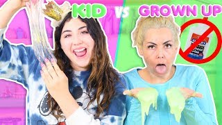 NO GLUE GROWN UP SLIME VS KID SLIME | Which shampoo is best for slime | Slimeatory #307