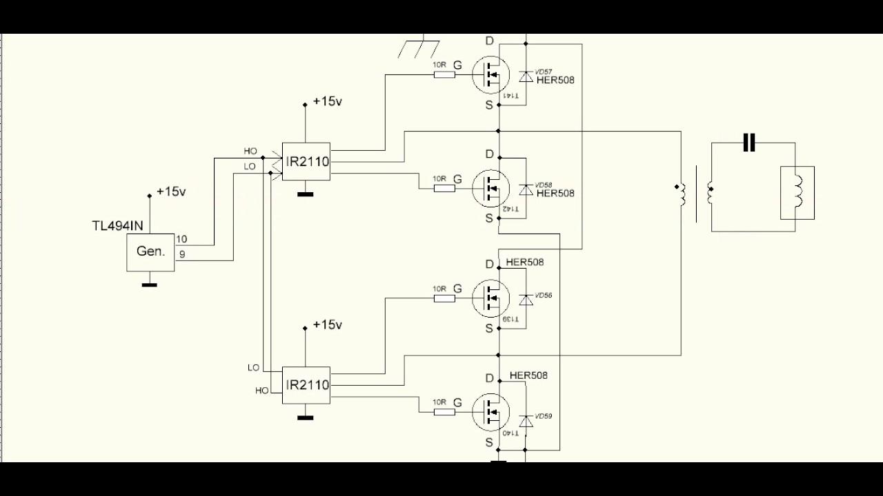 Индукционный ток схемы
