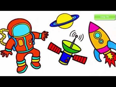 Astronauts coloring and drawing for Kids | Vẽ và tô màu Phi hành gia | Chip TV