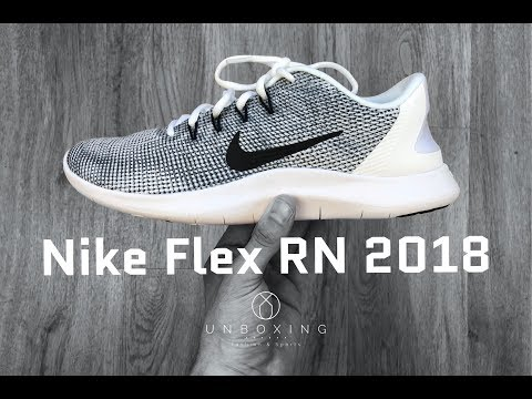 5a6e4425ba3 Nike Flex RN 2018 'white/black/cool grey' | UNBOXING & ON FEET ...