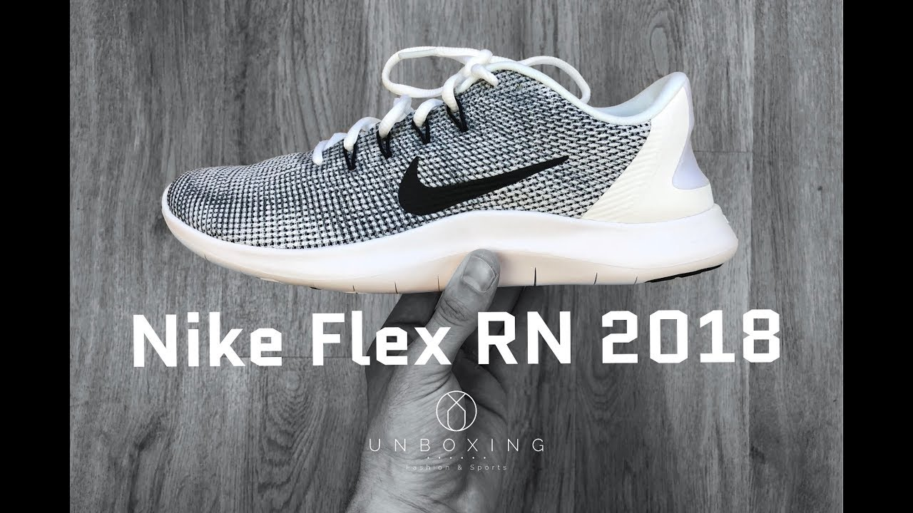 45cb2ba51f55 Nike Flex RN 2018  white black cool grey