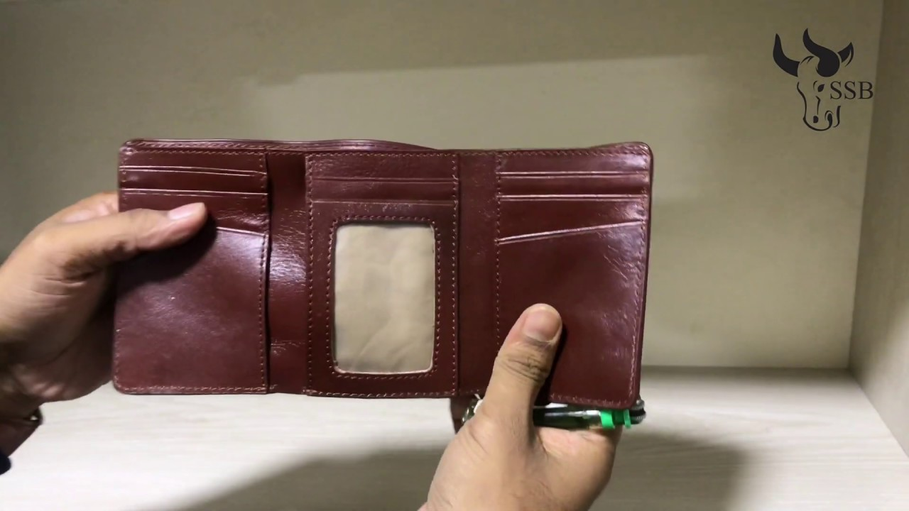 SSB SB W21 100% GENUINE LEATHER WALLET BAG  3 PART