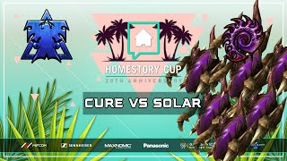 HE MADE HOW MANY ZERGLINGS?? Cure vs Solar [TvZ] Homestory Cup XX (20th Anniversary) Starcraft 2