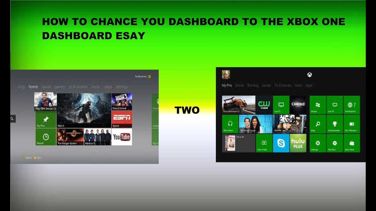 Xbox 360 How To Get Xbox One Dashboard On Xbox 360