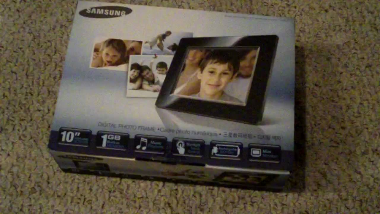 Unboxing Of Samsung Digital Picture Frame (SPF-105P) - YouTube