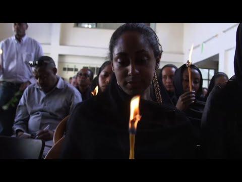 Ethiopian Airlines staff honors crash plane crew