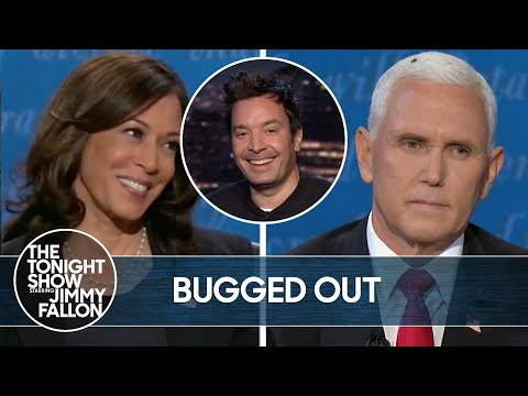Mike Pence Interrupted by Fly During VP Debate | The Tonight Show